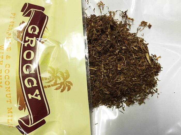 タバコ輸入業者がオススメする手巻きタバコ(シャグ)レビュー『 グロッギー・ピニャコラーダ(GROGGY)』