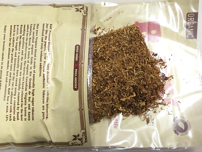 タバコ輸入業者がオススメする手巻きタバコ(シャグ)レビュー『ロウ・オーガニック(RAW ORGANIC)』