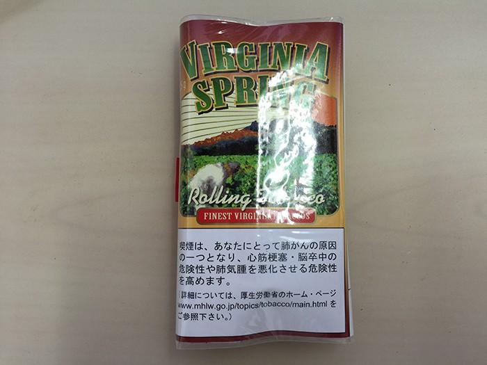 『 バージニア・スプリング(VIRGINIA SPRING)』タバコ輸入業者がオススメする手巻きタバコ(シャグ)レビュー